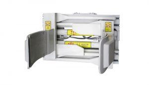 Forklfit अटैचमेंट स्टील व्हाइट 55 गैलन फोर्कलिफ्ट ड्रम क्लैंप