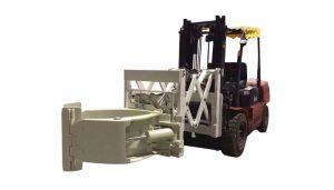 फोर्कलिफ्ट टायर हैंडलिंग अटैचमेंट टेलीस्कोपिक टायर क्लैम्प्स