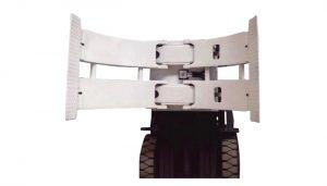 सामग्री हैंडलिंग उपकरण 2 टन टीबी श्रृंखला रोल फूस की ट्रक मैनुअल फूस स्टेकर पेपर रोल क्लैंप फ़ोल्डर