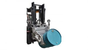 फोर्कलिफ्ट्स के लिए हाइड्रोलिक फोर्कलिफ्ट 55 Ggallon ड्रम क्लैंप