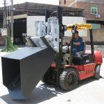 3 टन हुंडई डीजल फोर्कलिफ्ट अटैचमेंट बकेट हिंगड फोर्क एंड बकेट